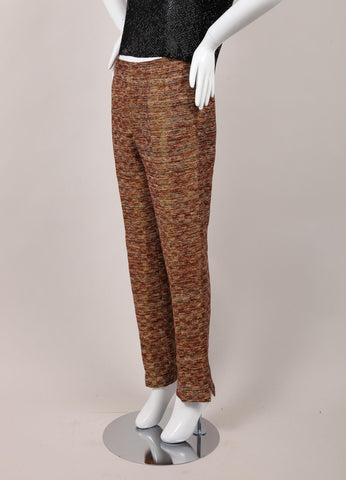 Metallic Patterned Knit Cropped Pants