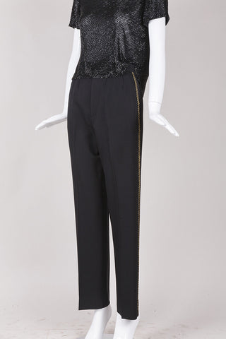 Black Trousers With Gold Braiding