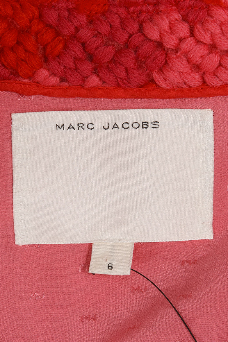 Red, Pink, and Purple Marc Jacobs Knit Short Wool Jacket