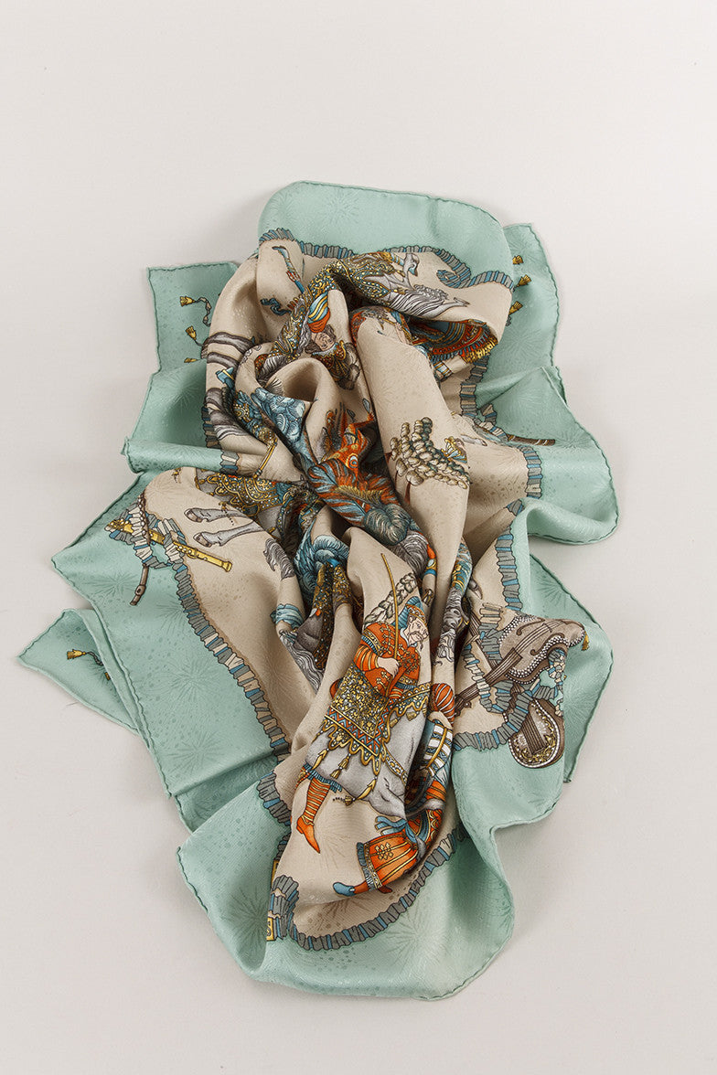 "New With Tags Silk ""Les Fetes Du Roi Soleil"" Scarf"