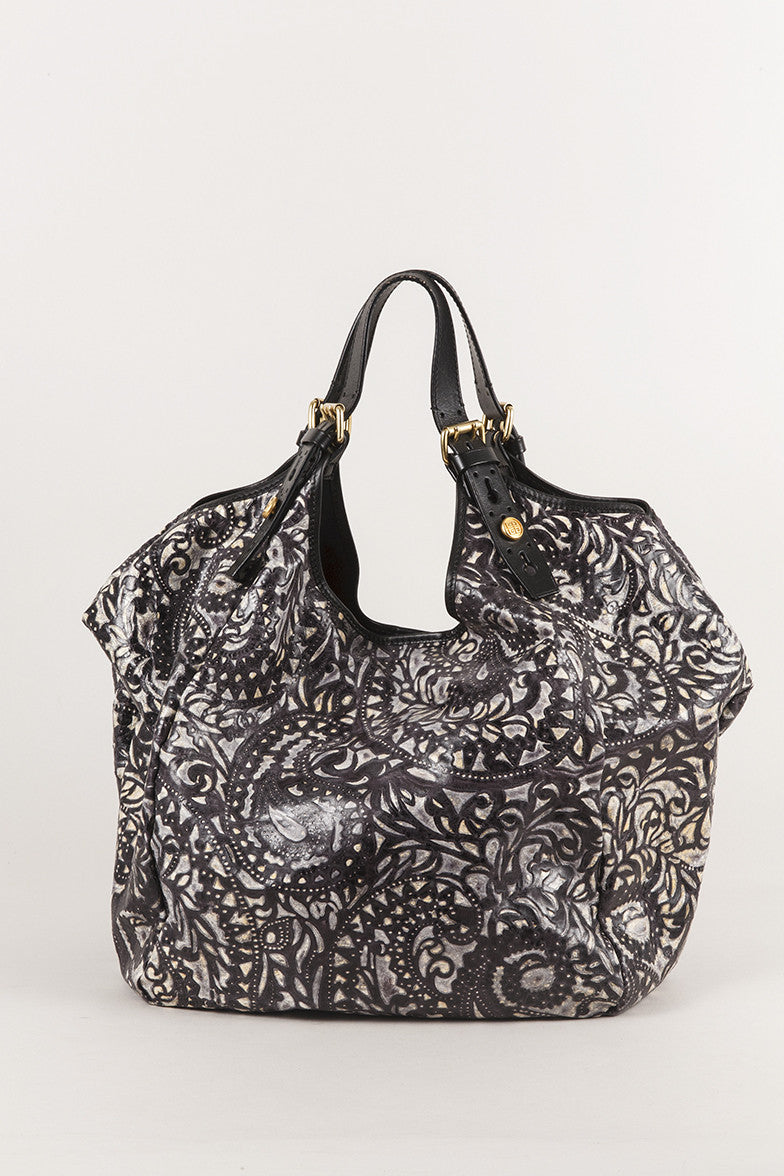 "Limited Edition Leather Paisley ""Sacca"" Shoulder Bag"