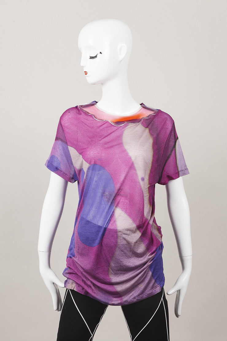 New Lava Print Gel Collar T Shirt