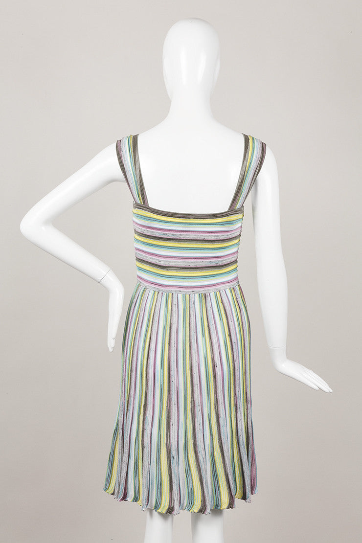 New With Tags Striped Knit Sleeveless Dress