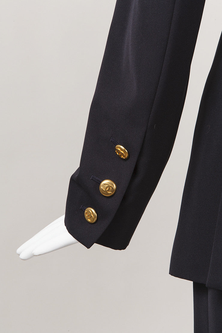 Navy Jacket and Pant Suit Set