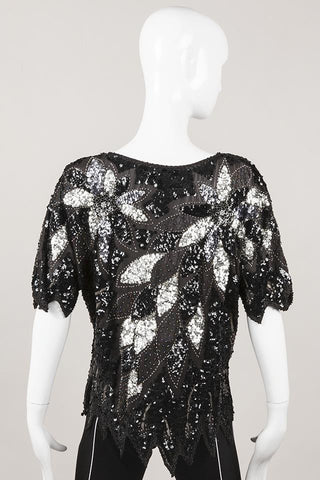 Metallic Sequin Top