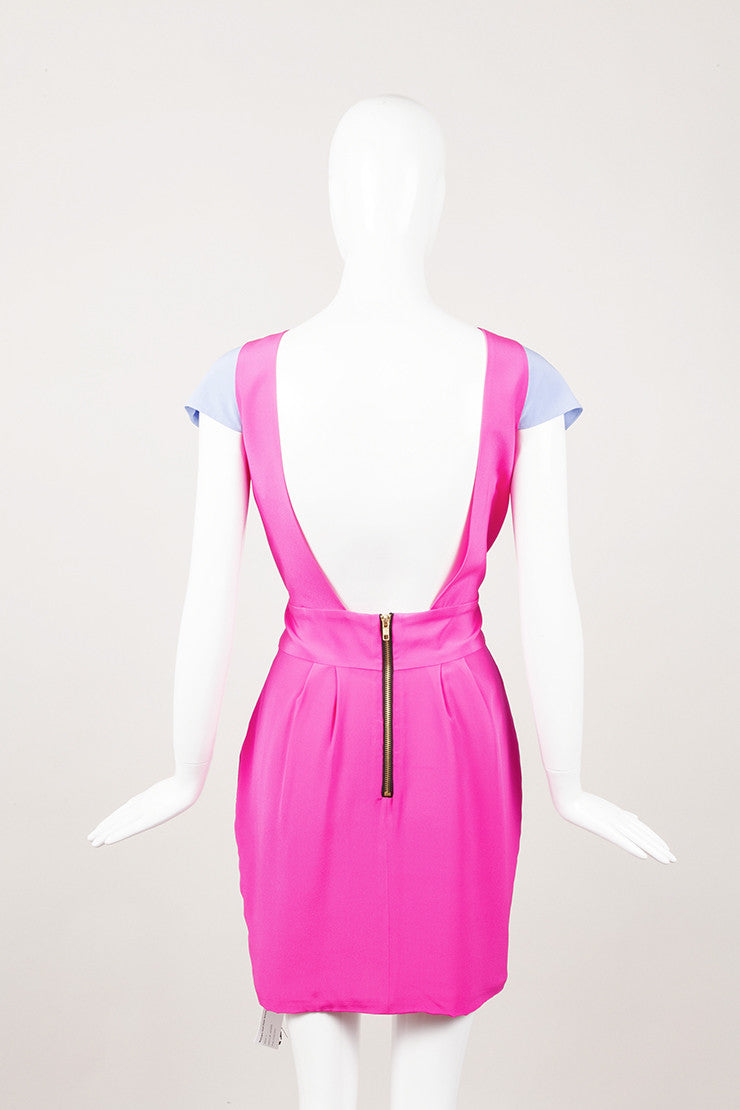 New With Tags Hot Pink Silk Dress