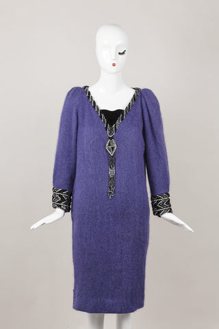 Purple Chevron Dress With Beading