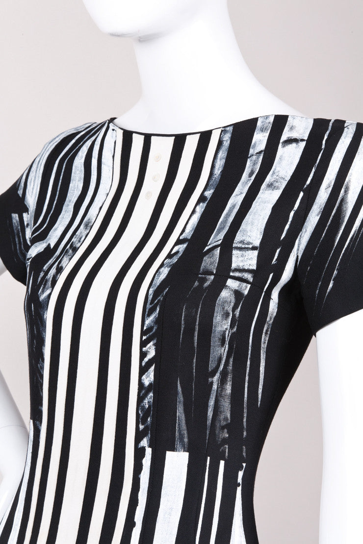 New With Tags Graffiti Striped Dress