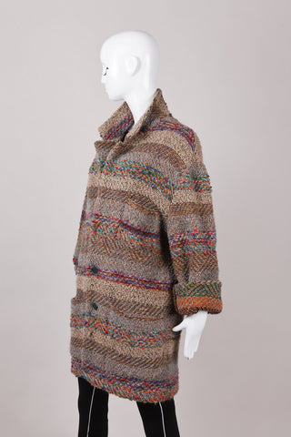 Button Down Wool and Mohair Sweater