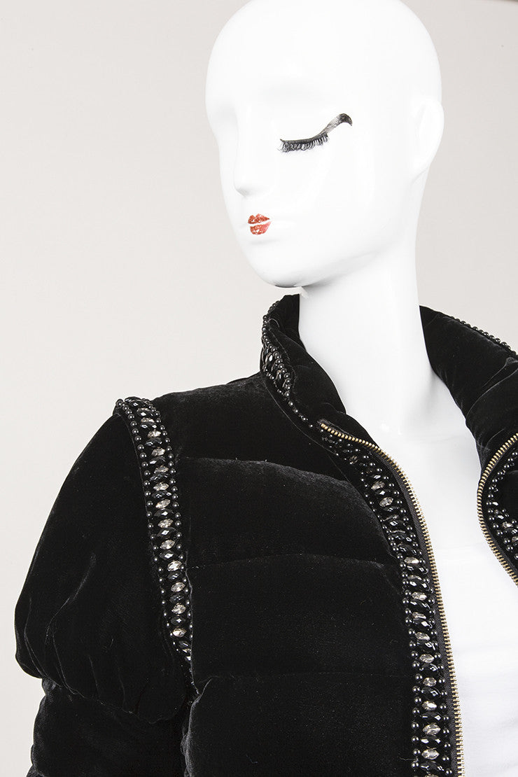 New With Tags Black Velvet Jacket With Removable Sleeves