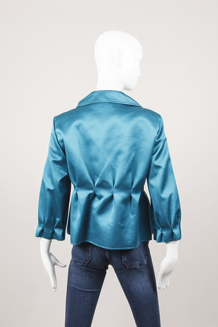 New With Tags Bright Teal Three Quarter Length Sleeve Jacket