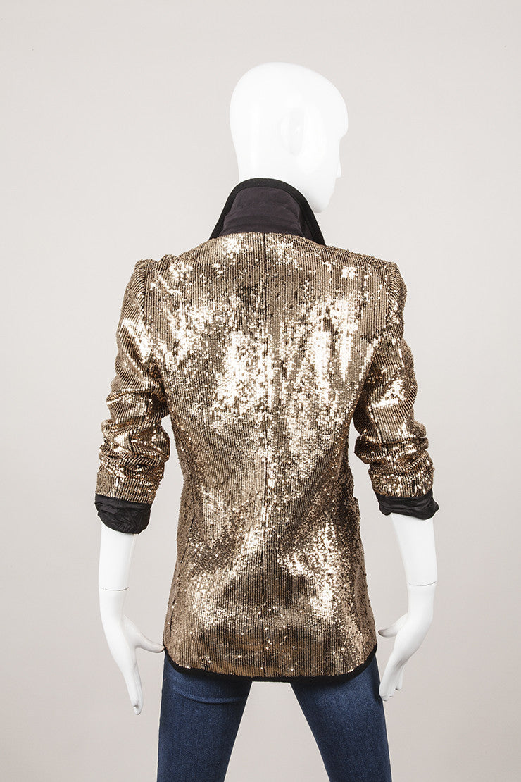 New With Tags Bronze Sequin Blazer