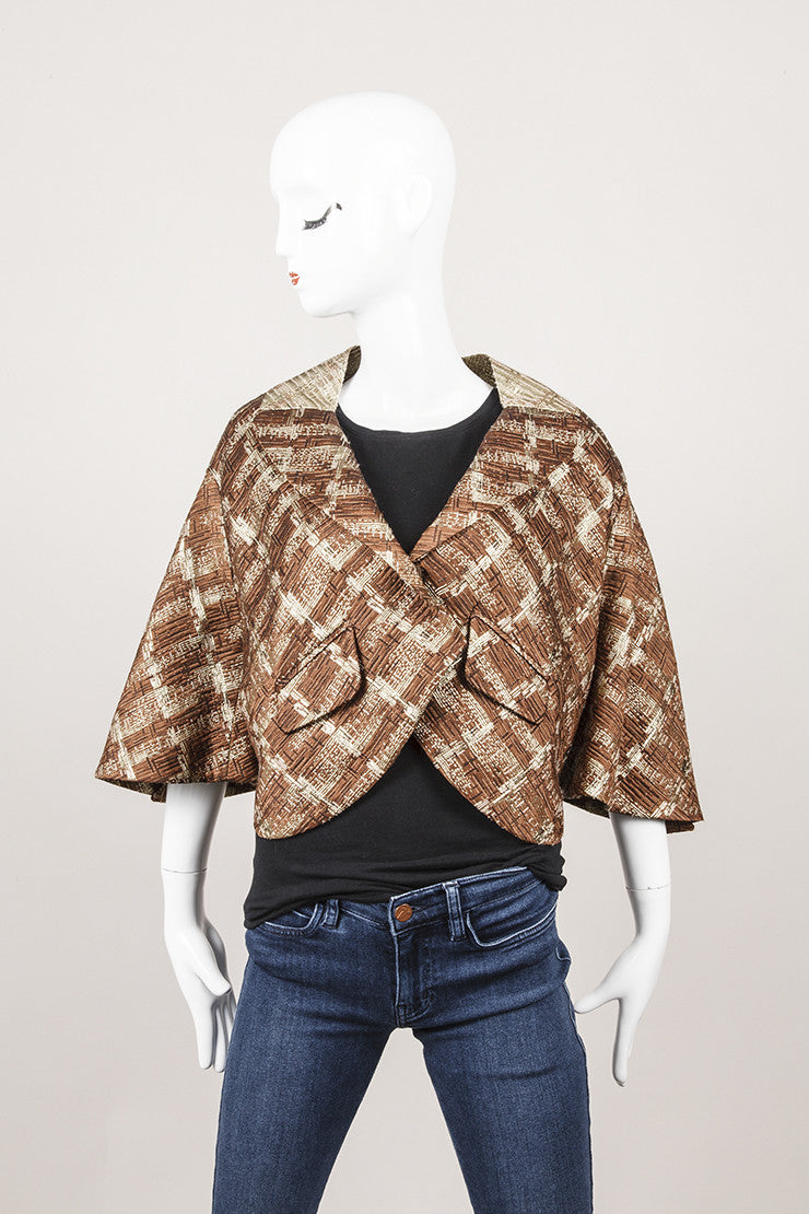 3f8809783bee Bronze and Gold Wool Cropped Blazer Jacket – Luxury Garage Sale