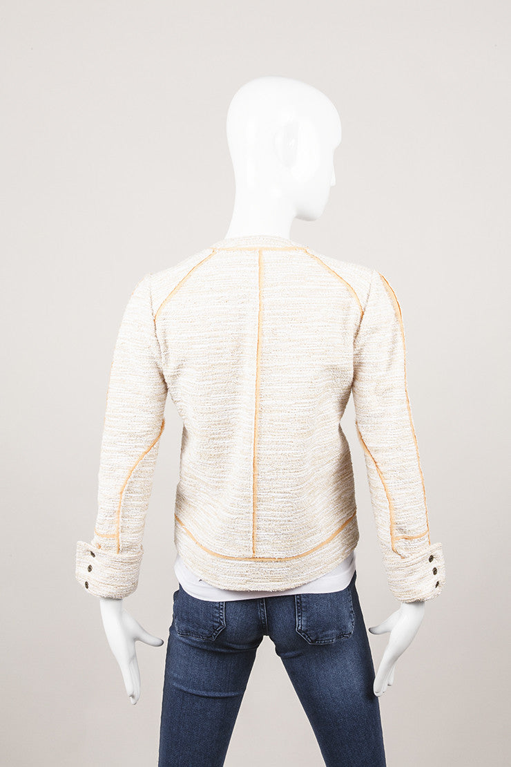 New With Tags Terry Tweed Peach and Cream Jacket