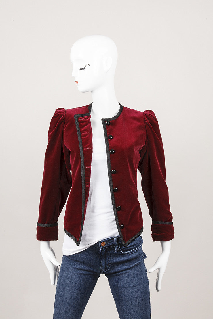 Maroon Jacket With Black Cording