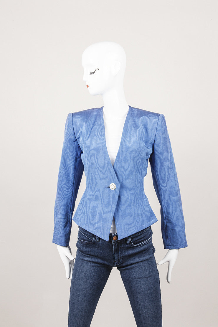 Yves Saint Laurent Rive Gauche Royal Blue Blazer
