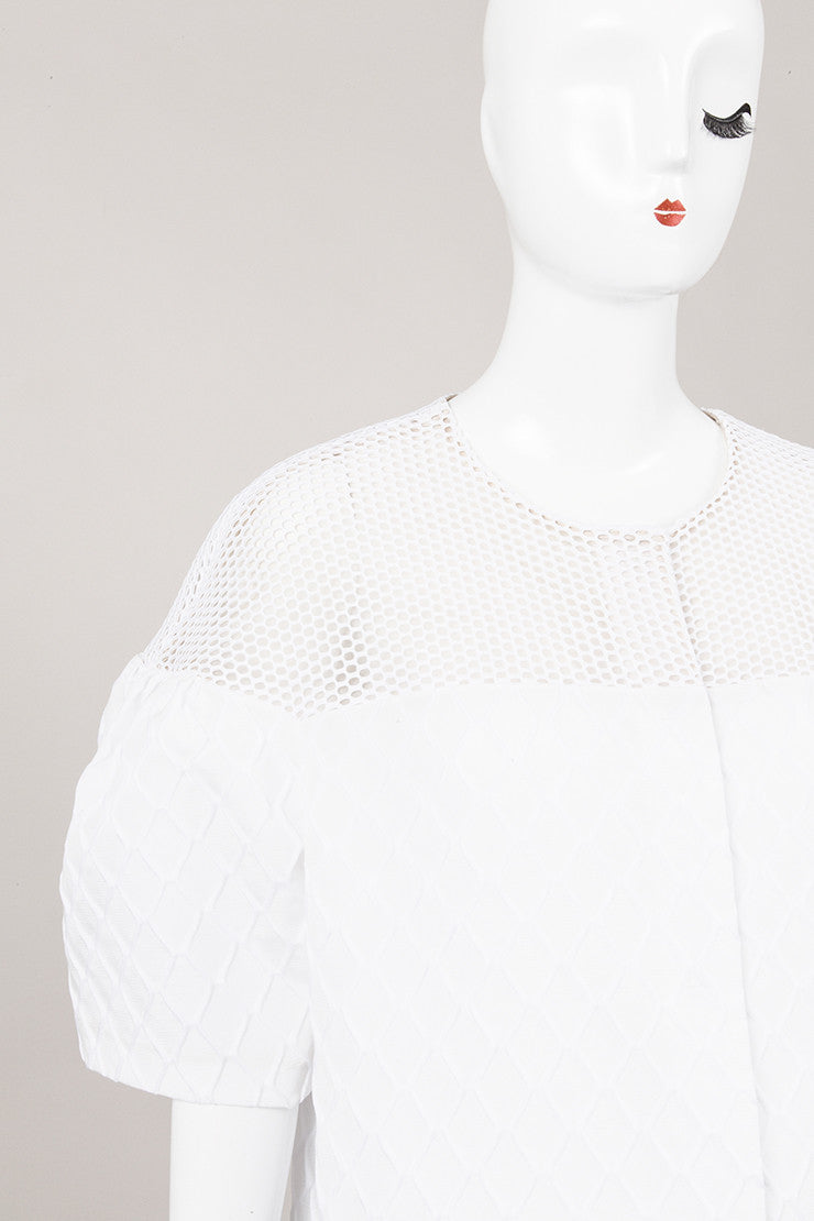 New With Tags White Mesh Cocoon Jacket