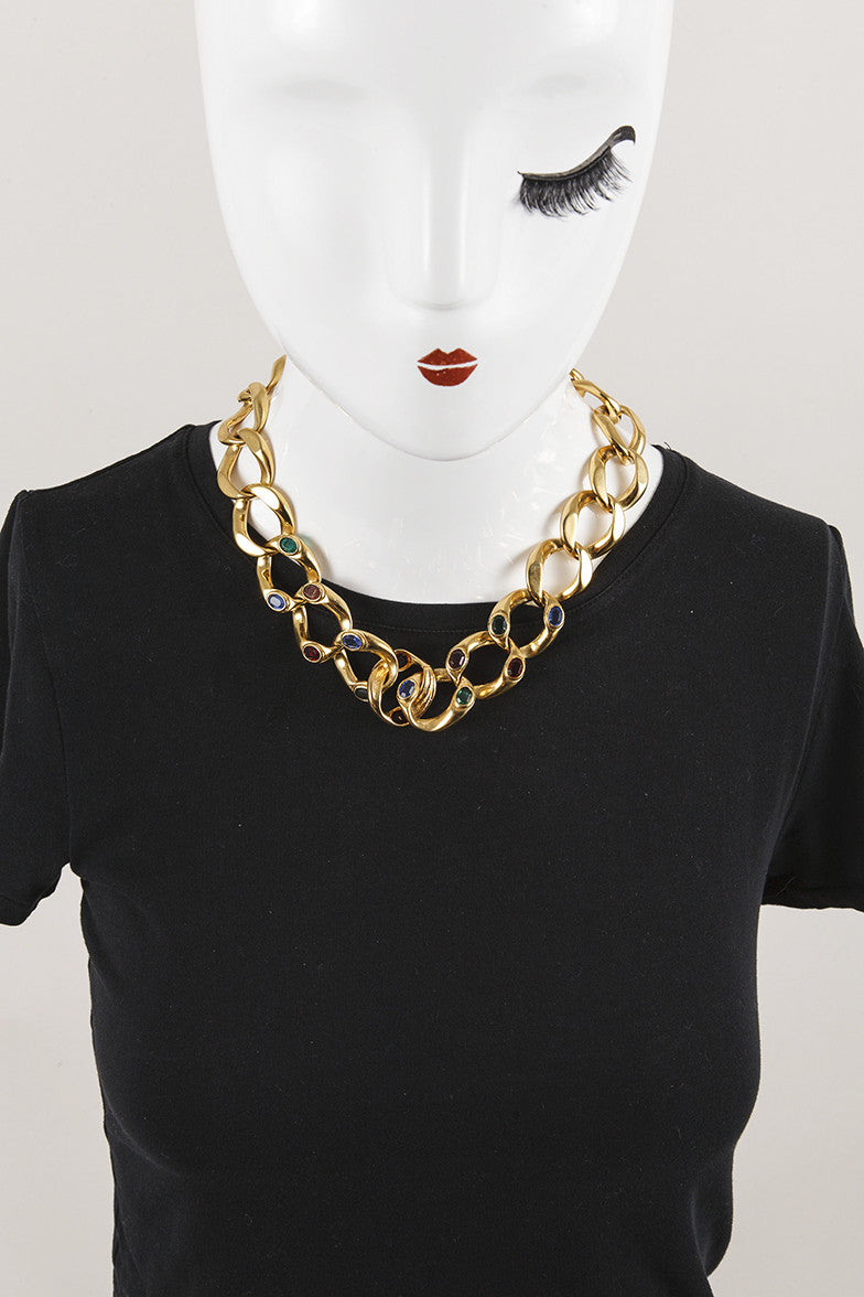 Chunky Gold Tone Necklace