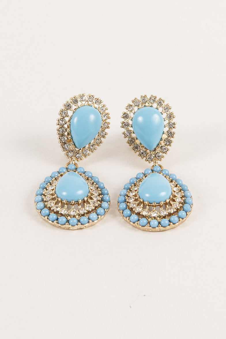 Turquoise Style Drop Earrings
