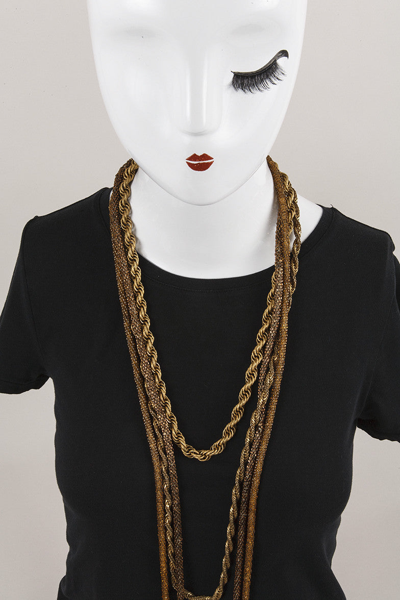 Gold Toned Necklace Set