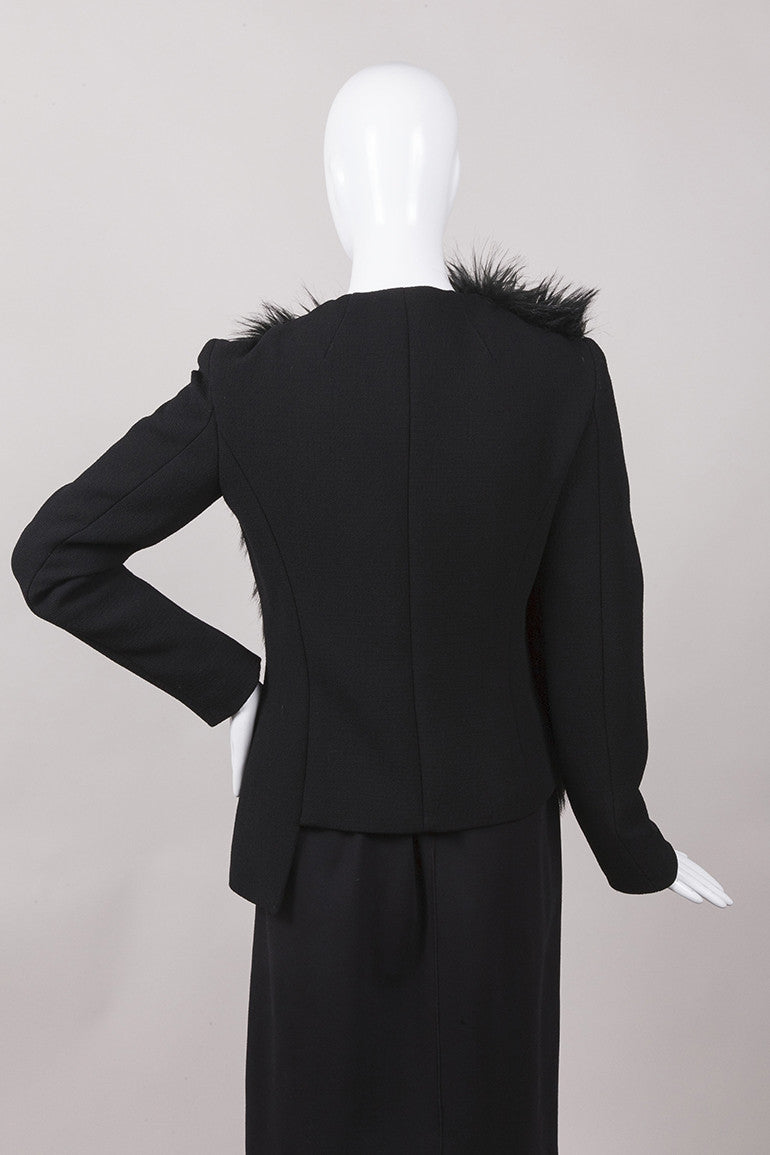 New With Tags Black and Green Fur Jacket
