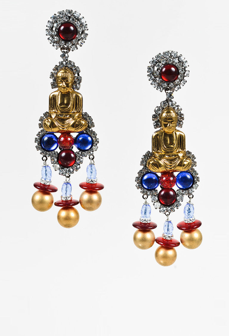 Lawrence vrba gold tone blue red crystal buddha chandelier earrings lawrence vrba gold tone blue red crystal buddha chandelier earrings 2 arubaitofo Choice Image