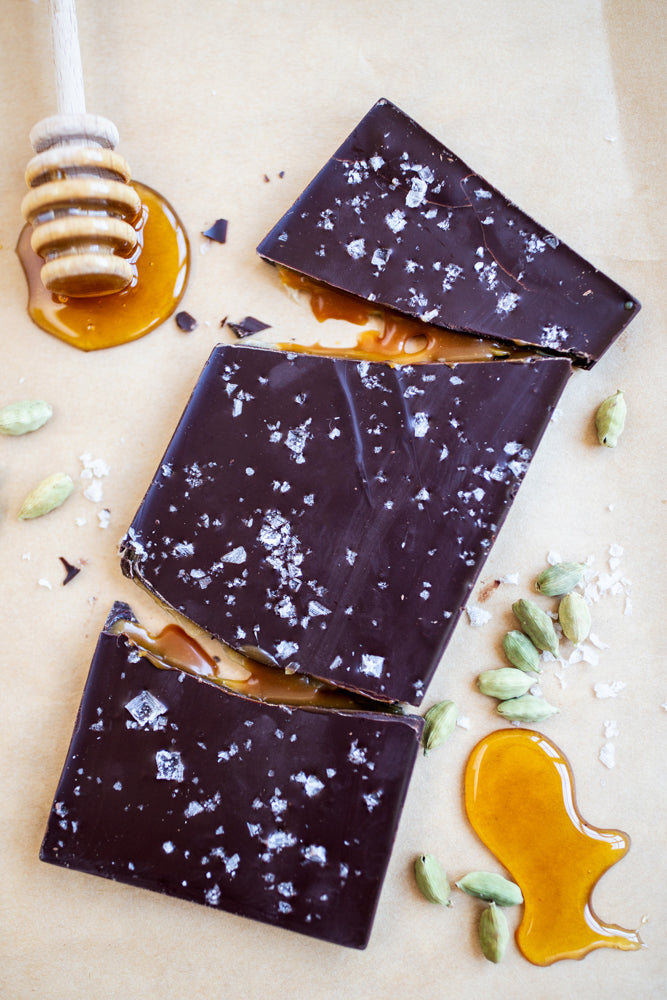 Stylized Honey Cardamom Caramel Bar