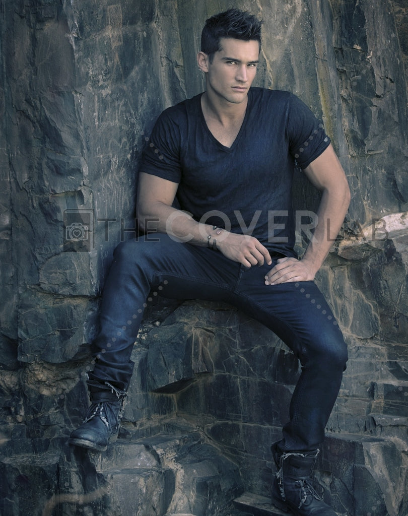 Hunk On The Rocks