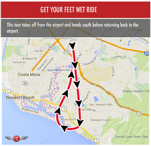 Get Your Feet Wet Ride - Private for 2 - Gift Card - OC Helicopters