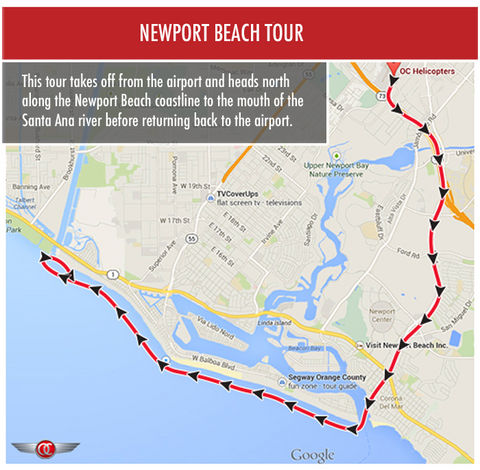 Newport Beach Tour - Private for 2 - Gift Card - OC Helicopters