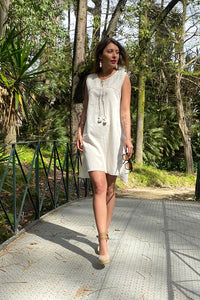 Banu 100% Organic Handmade Cream Dress