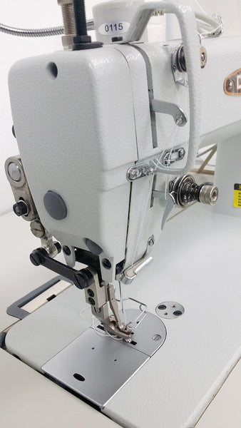 CONSEW 205RB-1 Top and Bottom Feed Walking Foot Sewing Machine for Leather