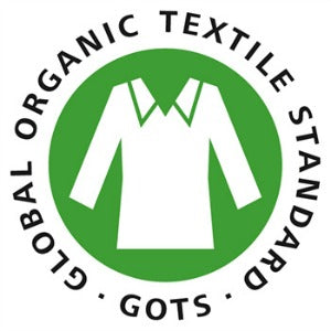 All of our organic goods are third party certified by the Global Organic Textile Standard (GOTS), meaning our organic cotton not only meets high-level environmental & supply chain certifications but also complies with all social criteria.