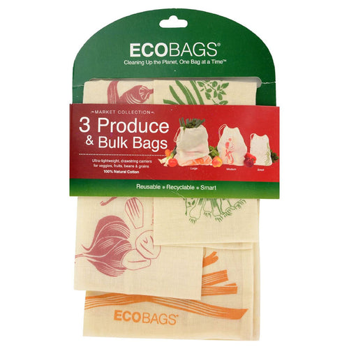 Market Collection Cotton Bags (Set of 3) - Ecophant