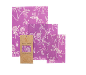 Beeswax Wrap Assorted 3 Pack  (S, M, L) Clover