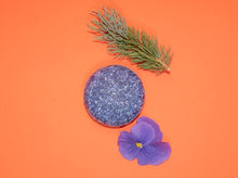 Load image into Gallery viewer, Zero Waste Shampoo Bar (Blue Flowers)