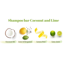Load image into Gallery viewer, Zero Waste Shampoo Bar (Coconut and Lime)