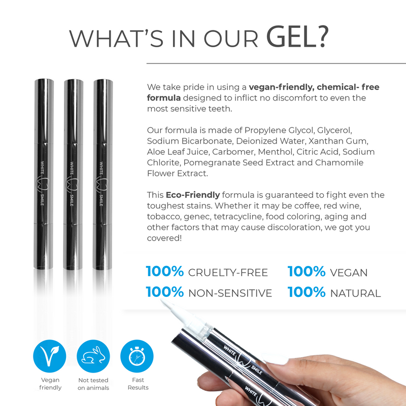 Teeth Whitening Gel Pens (3-Pack)