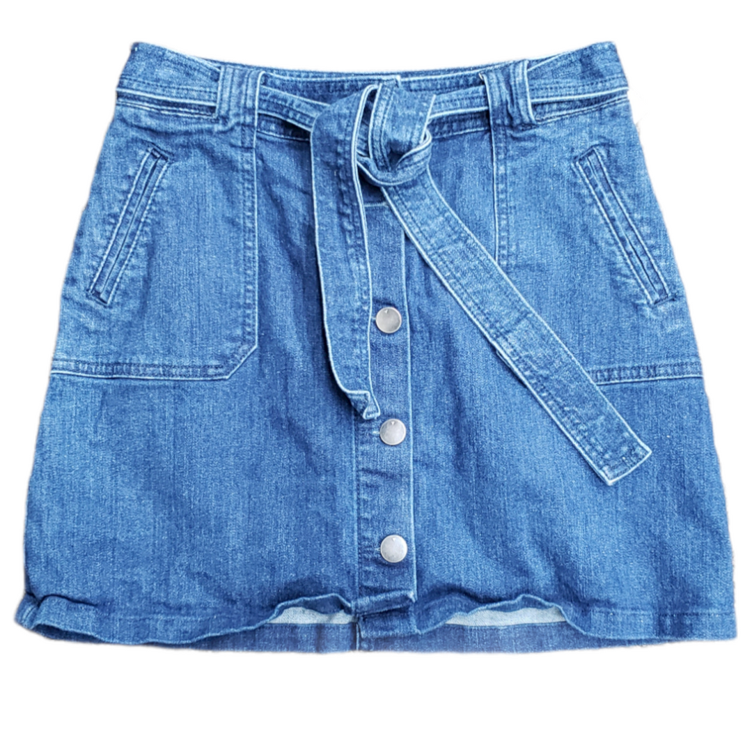 Primary Photo - BRAND: A NEW DAY <BR>STYLE: SKIRT <BR>COLOR: DENIM <BR>SIZE: 2 <BR>SKU: 220-22095-11105