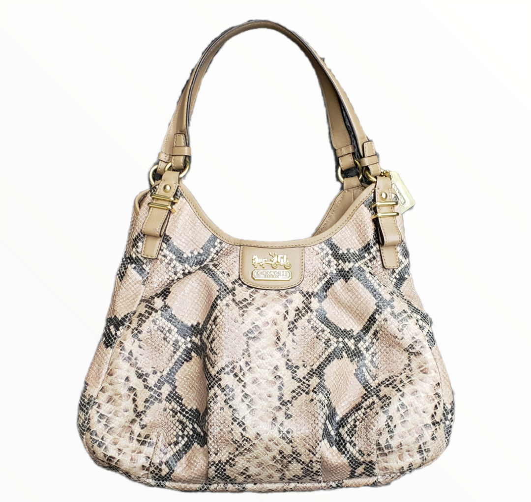 Primary Photo - BRAND: COACH <BR>STYLE: HANDBAG DESIGNER <BR>COLOR: SNAKESKIN PRINT <BR>SIZE: MEDIUM <BR>SKU: 220-220153-5336