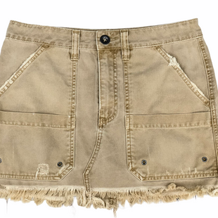 Primary Photo - BRAND: FREE PEOPLE STYLE: SKIRT COLOR: KHAKI SIZE: 4 SKU: 220-22012-33701
