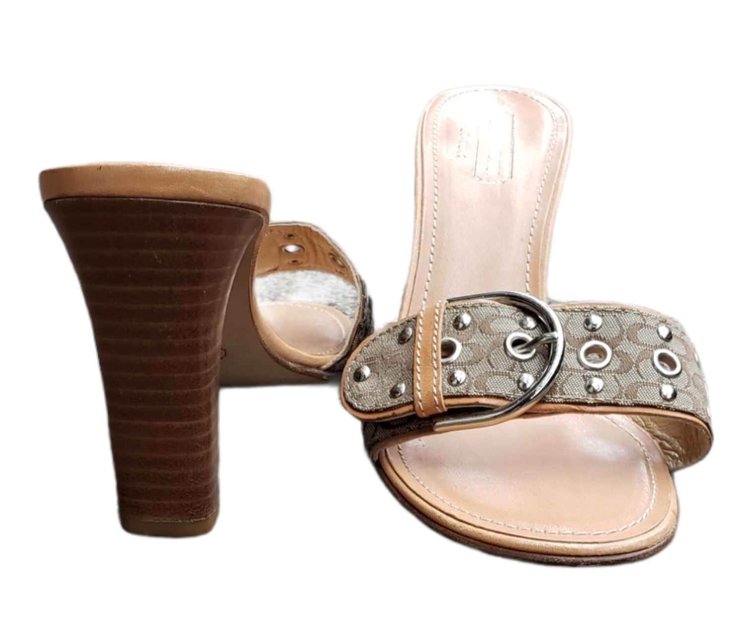 Photo #2 - BRAND: COACH <BR>STYLE: SANDALS LOW <BR>COLOR: TAN <BR>SIZE: 8 <BR>SKU: 220-220128-15049