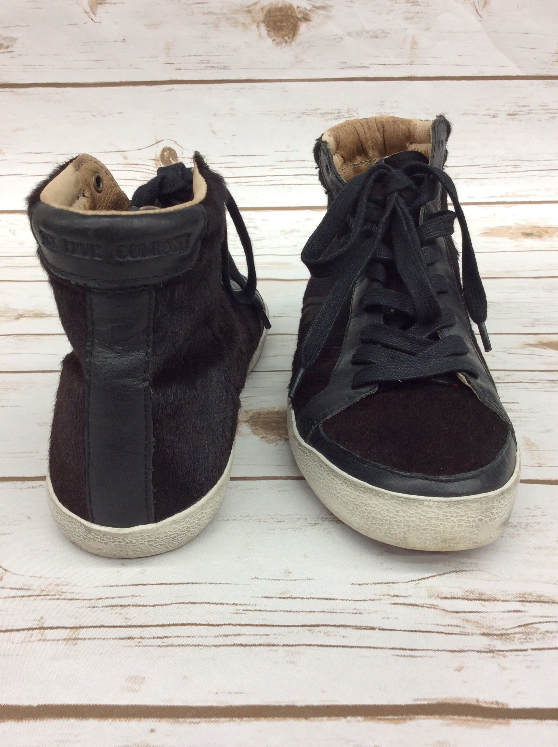 Photo #2 - BRAND: FRYE <BR>STYLE: SHOES ATHLETIC <BR>COLOR: BLACK/BROWN<BR>SIZE: 9 <BR>SKU: 220-22012-33370