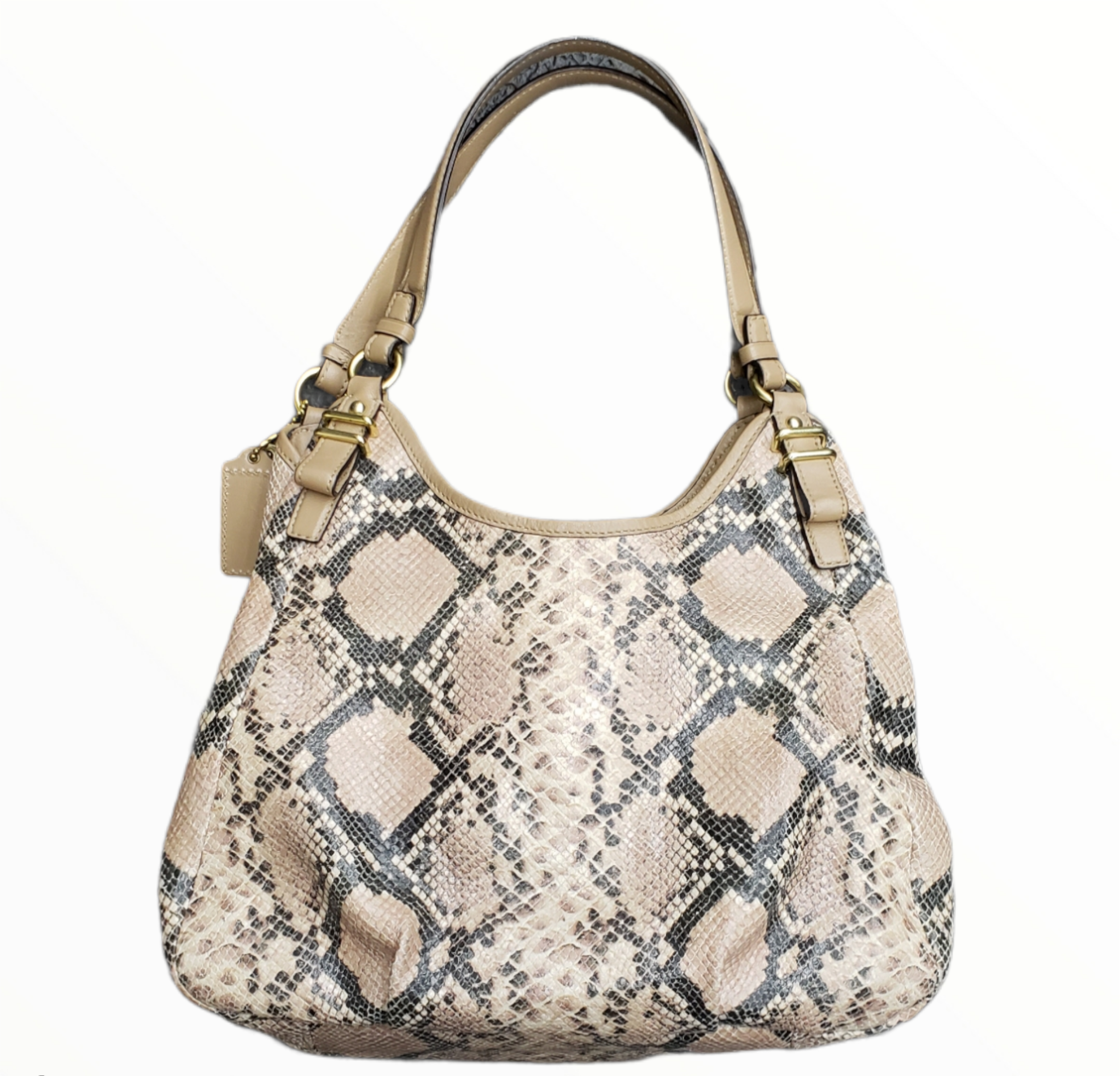 Photo #1 - BRAND: COACH <BR>STYLE: HANDBAG DESIGNER <BR>COLOR: SNAKESKIN PRINT <BR>SIZE: MEDIUM <BR>SKU: 220-220153-5336
