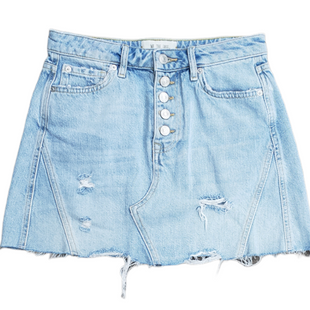 Primary Photo - BRAND: FREE PEOPLE STYLE: SKIRT COLOR: DENIM SIZE: 4/26SKU: 220-220120-7644