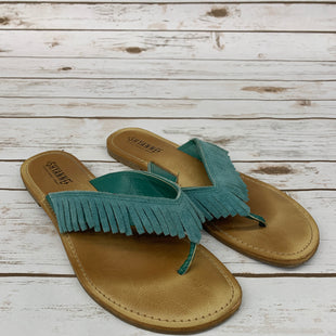 Primary Photo - BRAND:    CLOTHES MENTOR STYLE: SANDALS FLAT COLOR: AQUA SIZE: 9 OTHER INFO: SHYANNE - SKU: 220-220138-22883