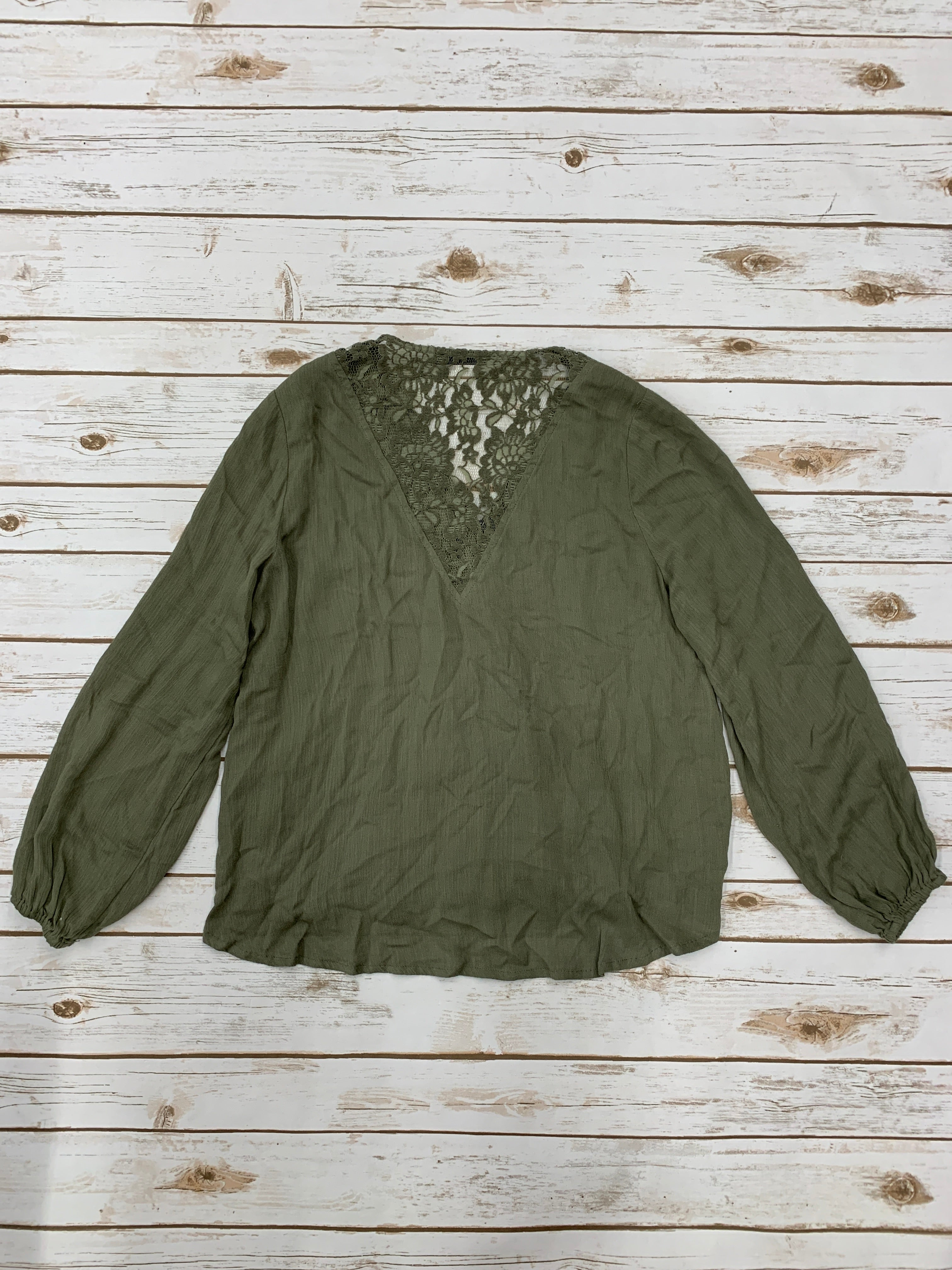 Photo #1 - BRAND: DOE & RAE <BR>STYLE: TOP LONG SLEEVE <BR>COLOR: GREEN <BR>SIZE: S <BR>SKU: 220-220120-6865