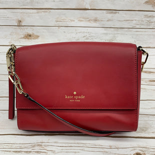 Primary Photo - BRAND: KATE SPADE STYLE: HANDBAG DESIGNER COLOR: RED SIZE: SMALL OTHER INFO: AS IS, SMALL MARK ON FRONT SKU: 220-220138-23142
