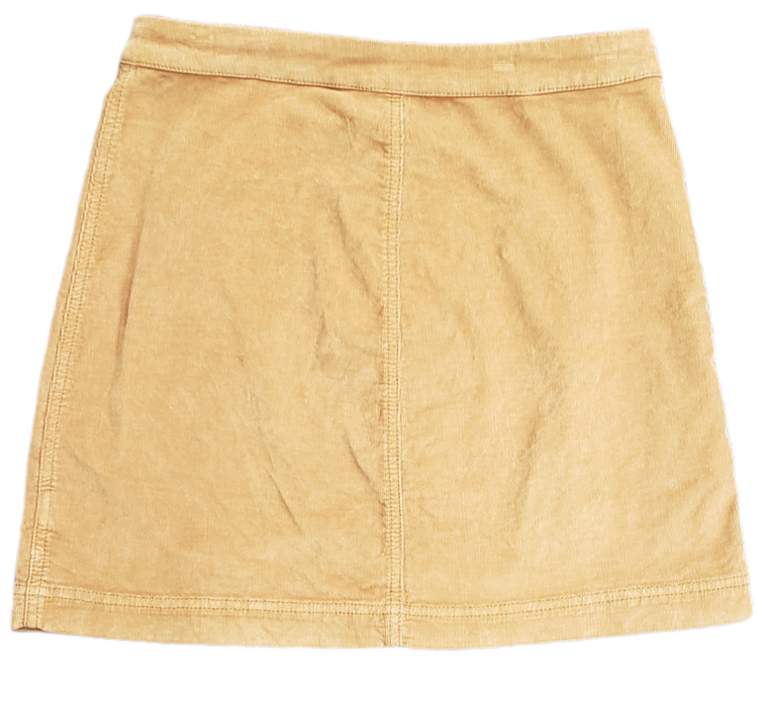Photo #1 - BRAND: FREE PEOPLE <BR>STYLE: SKIRT <BR>COLOR: TAN <BR>SIZE: 6 <BR>SKU: 220-220138-25701<BR>MUSTARD BROWN COLOR IN PERSON(PICTURES AS ORANGE)