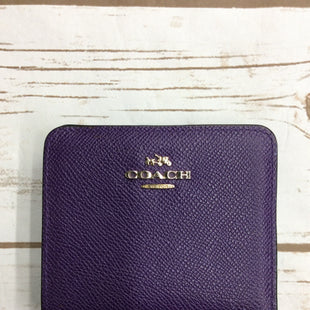 Primary Photo - BRAND: COACH STYLE: WALLET COLOR: PURPLE SIZE: SMALL SKU: 220-22095-11109